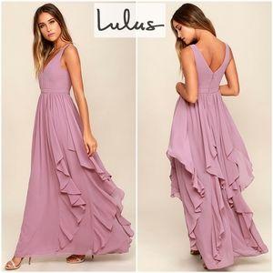 LuLu's Simply Sweet Mauve Maxi Dress XS
